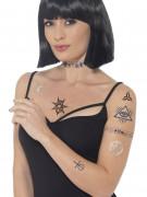 Fake Tattoos Halloween bunt