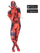 Marvel Deadpool Digital Morphsuit Lizenzware rot-schwarz