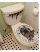 Halloween-Sticker Toilettenbrille grau-rot
