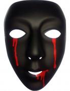 Schwarze Maske mit Blut für Damen Halloween schwar
