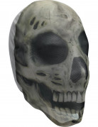 Strumpfmaske Skelett Halloween Kostümaccessoire grau
