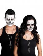 Skelett-Halskette Halloween-Schmuck silber