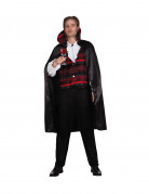 Eitler Vampir-Baron Dracula Halloween Kostüm für Herren schwarz-rot-weiss