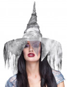 Hexenhut Kostümhut für Damen grau 36cm