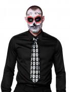 Dia de los Muertos Halloween-Krawatte mit Totenköpfen Kostüm-Accessoire schwarz-bunt