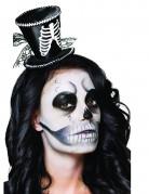 Kleiner Skelett Zylinder Halloween für Damen schwarz-weiss