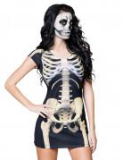 Sexy Skelett-Kleid Halloween-Accessoire für Damen schwarz-weiss