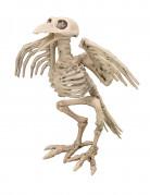 Skelett-Rabe Halloween-Dekofigur beige 19,5 cm