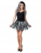 Halloween-Tutu mit Spinnennetzen Kostüm-Accessoire schwarz-weiss