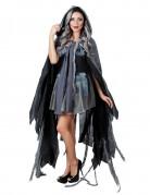 Zerfetztes Cape Halloween-Umhang Kostüm-Accessoire schwarz-grau