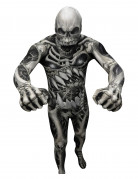 Monster Skelett Morphsuit Halloween schwarz-grau