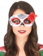 Augenmaske mit Rose Dia de los Muertos