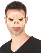 Gruselige Schweinsmaske Halloween-Maske hellrosa