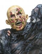 Zombie-Maske mit Maden Halloween Kostümaccessoire beige-rot-grün