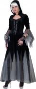 Gothic-Magd Halloween-Damenkostüm schwarz-grau