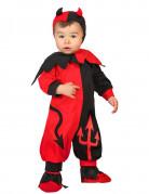 Teufel-Babykostüm Kleinkinderkostüm für Halloween rot-schwarz