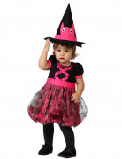 Hexen-Kleinkinderkostüm Halloweenverkleidung pink-schwarz