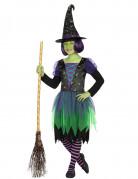 Süsse Hexe Kinderkostüm Zauberin schwarz-grün
