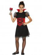 Elegante Vampirin Kinderkostüm schwarz-rot