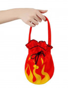 Teufelin Handtasche Flammen rot-gelb