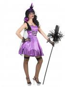 Verführerische Hexe Halloween Damenkostüm violett-schwarz