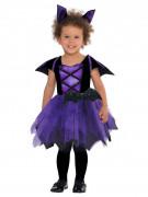 Süsse Fledermaus-Vampirin Halloween-Kinderkostüm schwarz-lila