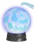Wahrsager-Kristallkugel leuchtend grau