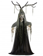 Schauriges Baummonster Halloween-Dekofigur mit Licht und Sound grau 2m