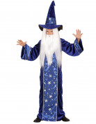 Zaubererkostüm für Kinder blau