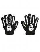Halloween Handschuhe mit Knochenmotiv für Kinder