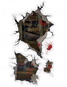 Monster-Wandaufkleber für Halloween bunt