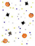 Halloween-Konfetti Kürbisse und Spinnen Tischdeko bunt 14g
