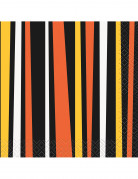 Halloween-Servietten Papierservietten 16 Stück schwarz-orange-bunt 12,5x12,5cm