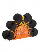 Tischdekoration Happy-Halloween-Spinnen aus Wabenkugeln orange-schwarz 15 x 21 cm