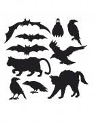 Halloween-Cutouts Gruseltiere 10 Stück schwarz