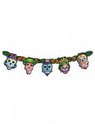 Dia de los Muertos Halloween-Girlande Sugar Skulls bunt 122cm