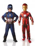 Iron Man™ und Captain America™ Kostüm-Set für Kinder bunt