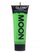Moon Glow - Glow in the Dark UV Gesicht- und Körperfarbe Schminke Makeup Bodypainting nachtleuchtend grün 12ml