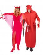 Halloween Teufel Paarkostüm Rot