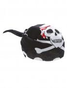 Piratenbandana mit Totenkopf schwarz-weiß-rot