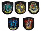 Harry Potter™-Aufnäher Hogwarts-Wappen 5-teilig schwarz-bunt 6,5x8cm