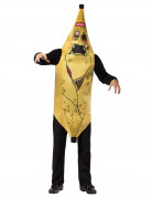 Zombie-Banane Halloween Kostüm gelb-schwarz