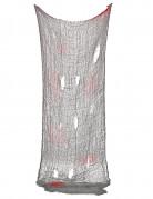 Blutiges Deko-Tuch Halloween-Partydeko rot-grau 75x150cm