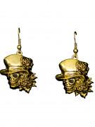 Goldene Ohrringe Totenkopf gold