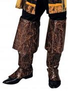 Pirat Stiefelstulpen braun-gold