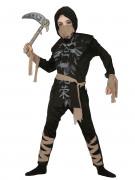 Geister-Ninja Kinderkostüm schwarz-grau-beige