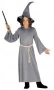 Zaubererkostüm für Kinder Halloween grau