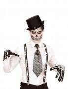 Skelett Hosenträger für Erwachsene schwarz-weiß