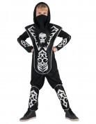 Ninja-Kostüm für Kinder Totenkopf-Ninja schwarz-weiss
