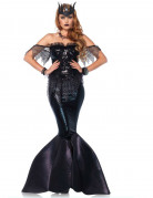 Dunkle Meerjungfrau Damenkostüm Meerhexe schwarz